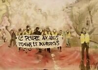 "''Le people..."" Original artwork in Geo Mozaïque, yellow vests, Gilets Jaunes"