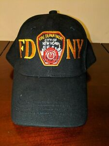 FDNY Baseball Hat Cap Police Badge Fire Department Of New York City Black & Gold