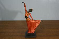 Signed Art Deco Chiparus Belly Dancer Bronze Marble Sculpture Statue Figurine