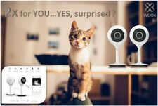 2x ! WOOX R4024 - Smart HD Überwachungskamera Camera Tuya Alexa+Google Home Wifi