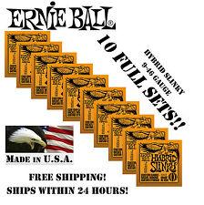 *10 PACK ERNIE BALL HYBRID SLINKY 9-46 ELECTRIC GUITAR STRINGS 2222 (10 SETS)*