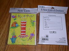 New 2 Packages of Party Invitations (16 total) Leanin Tree