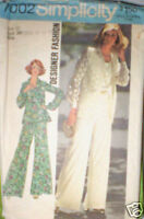 Vintage Simplicity Pattern Shirt Jacket Top Pants 12