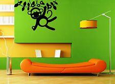 Wall Stickers Vinyl Decal Monkey Nursery For Kids Cartoon Animal ig1366