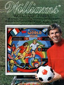 Williams world cup 1978 pinball cpu rom chip set