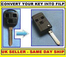 FOR Toyota 3 Button Flip Key Fob case Celica, Avensis
