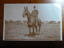 Lot29f FOX HUNTING Unknown Rider HORSE Real Photo Postcard c1922