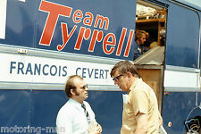 FRANCOIS CEVERT KEN TYRRELL TRANSPORTER PHOTOGRAPH FOTO  VERY RARE