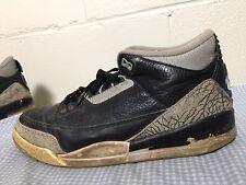 1994 Original Nike Air Jordan 3 III Black Cement Size 10.5 OG iv v vi vii xi Vtg