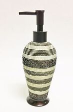 New Resin Cream+Brown+Gray Striped Textured Soap,Lotion Dispenser