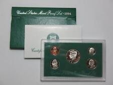 1994-S United States Proof Coin Set - Half Quarter Dime Nickel & Cent