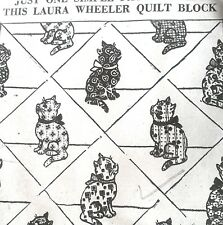 1583 Vintage Laura Wheeler CALICO CAT QUILT Pattern to SEW (Reproduction)