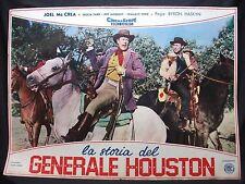 FOTOBUSTA CINEMA - LA STORIA DEL GENERALE HOUSTON - JOEL MC CREA - 1956 - BIO-02