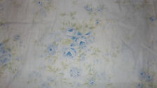 SIMPLY SHABBY CHIC BRITISH BLUE ROSE FLORAL SHOWER CURTAIN