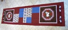 AF0633 Handmade FALL SHEEP PATCHWORK BED TABLE RUNNER Top Only 76 x 20 quilt new