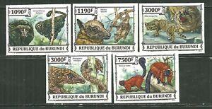 BURUNDI 1402A-D, 1427 MNH ENDANGERED ANIMALS IMPERF