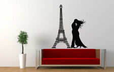 Wall Vinyl Sticker Room Decals Mural Design Art Paris Eiffel Tower Love  bo1115