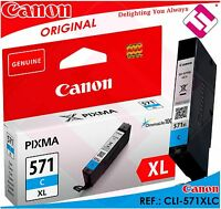 ENCRE CYAN CANON CLI-571C XL ORIGINAL CARTOUCHE BLEU IMPRIMANTE CLI-571XLC CYAN