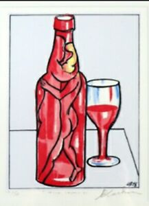 """""""Wine Lovers"""" CHARLES BLACKMAN,  signed hand made Limited edition screenprint"""