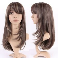 Long Blonde Brown Full Wigs Curly Straight Wavy Women Lady Dress Wig Heat Safe #