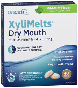 XyliMelts Discs for Dry Mouth 40 Mints : 3 Packs