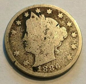 1886 RARE LIBERTY NICKEL  KEY DATE COLLECTOR COIN