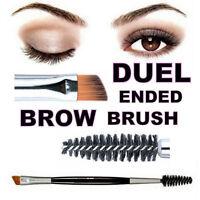 Eyebrow Double Ended Flat Angled Eyeliner Eyeshadow Brow Mascara Brush Makeup