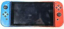 Nintendo Switch HAC-001 32GB Console Set Red/Blue Joycons Missing Kickstand