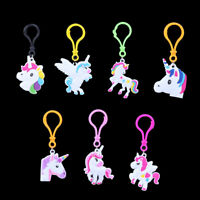 Set of 5 Unicorn Key Rings For Kids Children Girl Pendant Key chain Accessories