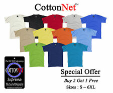 BUY 2 GET 1 FREE CottonNet V Neck T shirt Supreme Heavy Weight S-6XL Tall Tshirt