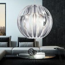 Design Hänge Leuchte silber Wohn Zimmer Tisch Beleuchtung rund Pendel Lampe klar