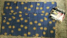 Tommy Hilfiger Blouson Valances Blue with Yellow Daisies, Set of 2