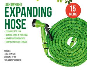 50ft / 15M Expanding Garden Hose Flexible Pipe With Spray Gun Water