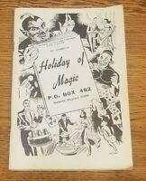 Ed Sparrow's Holiday of Magic 1976 Publication