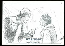 2015 Star Wars Illustrated Empire Strikes Back Panorama Sketch SARAH WILKINSON