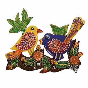 Handcrafter Wooden Key Hanger Beautiful Parrot Mynah Wooden Craft Key Holder20x1