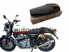 Genuine Royal Enfield Dual Seat With Black Cowl For Interceptor 650