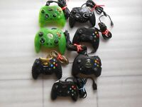 Lot of 7 controllers,Not WORK for PARTS or REPAIR.Original XBOX.See of Pictures