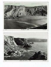 CORNISH POST CARDS REAL PHOTOS THE BEACH AND BEACON AND BEACH ST. AGNES