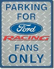 New Parking for Ford Racing Fans Only Decorative Metal Tin Sign