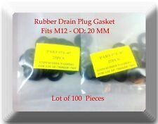 Lot of 100 Rubber Drain Plug Gasket, Fits M12- OD: 20mm Fits:GM Ford  Isuzu Saab