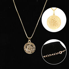 925 Sterling Gold Saint St Christopher Necklace Pendant & Chain OPTIONS Style