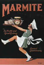 Reproduction Vintage Advertising Postcard : Marmite - waitress