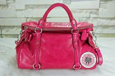 NEW Miu Miu RT0365 X72 Vitello Lux Bauletto Fuxia / F0029 Calfskin Shoulder Bags