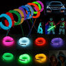 DIY 1-5M LED Flexible EL Wire Neon Glow Light Rope 12V Power for Car Dance Party