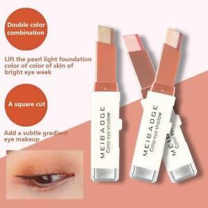 Glitter Double Colour Gradient Eyeshadow Stick-Two S4 Eye Pen Shadow H7 Z1W6
