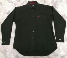 Abercrombie & Fitch Mens Long Sleeve Button Shirt Sz XL Muscle Fit Dark Gray!