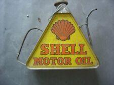 Ancien Bidon Triangulaire Shell Motor Oil -Transformé avec poignée + bec verseur