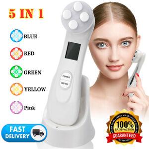6in1 LED Ultraschall Falten Schönheit Gesicht Massagegerät Anti-Aging Maschine