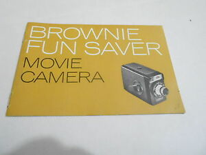 1950s/1960s MOVIE CAMERA manual #24 - BROWNIE FUN SAVER